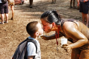 Seeing my kids after the Warrior Dash 2011 finish line is just so amazing!